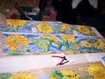 Sunflower panels in the process