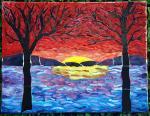 sunset & trees
