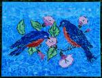 two blue birds