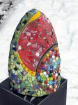 breaking the rules Hight 50 cm  tiles, marbles, mirror and paint