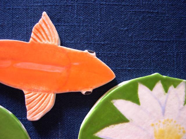 closeup orange & lotusb