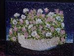 White bowl with flowers