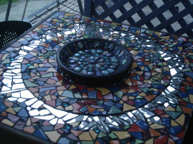 Table and Paua plate