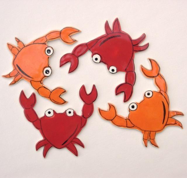 Crab mosaic tiles 2421