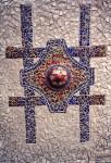 Cross of Japanese pieces of ceramics
