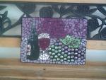 Wine and grapes mosaic