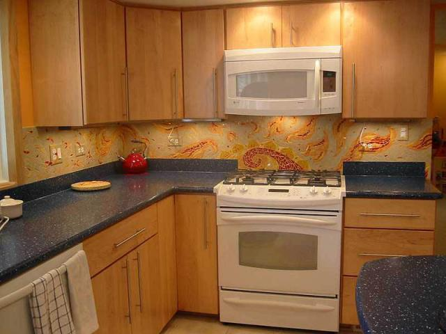 RISING SUN MOSAIC BACKSPLASH