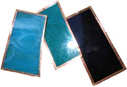 Glass Pieces With Copper