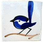 Blue Bird Decorated Ceramic Tile