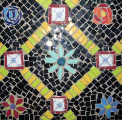 Mosaic Table Tiles and Grout